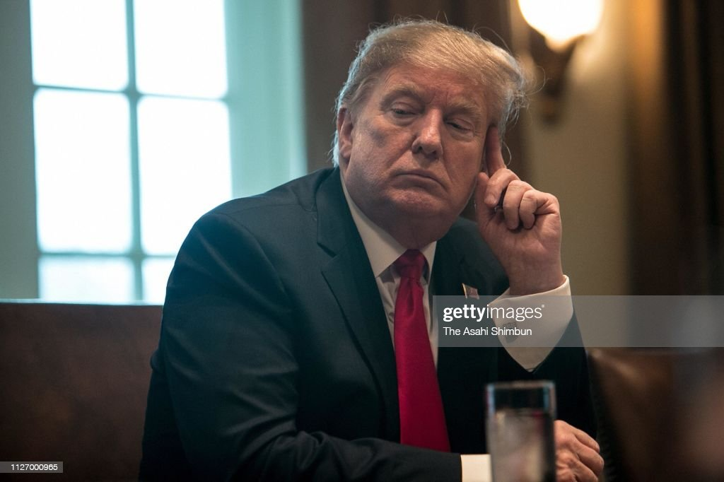 President Trump Holds Meeting On Combating Human Trafficking On Southern Border : News Photo