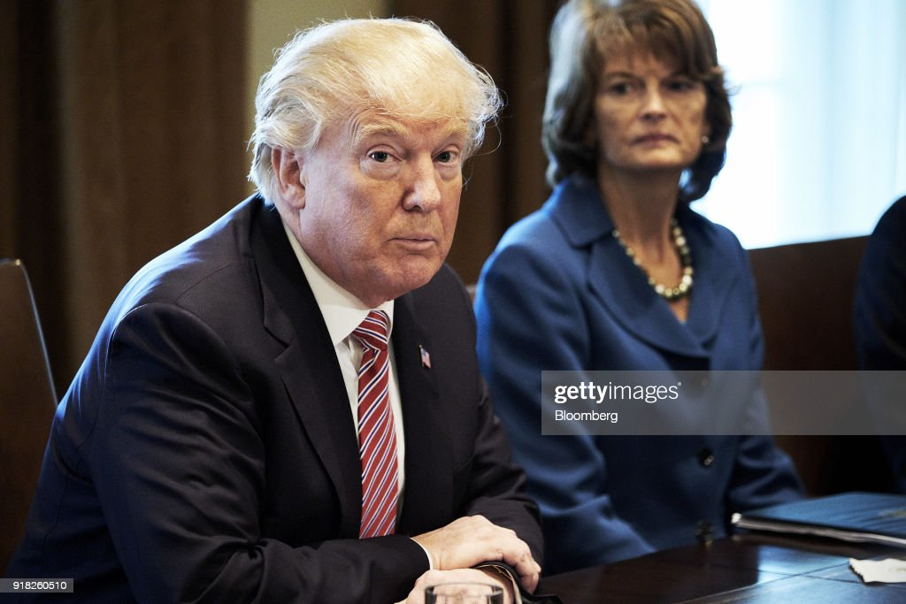 U.S. President Donald Trump speaks during a meeting with bipartisan members of congress in the Cabinet Room of the White House in Washington, D.C., U.S. on Wednesday, Feb. 14, 2018. Republican lawmakers told Trump the new tariffs hes mulling for aluminum and steel imports would likely do more harm than good, costing greater jobs among automakers and manufacturers than they protect. Photographer: T.J. Kirkpatrick/Bloomberg via Getty Images