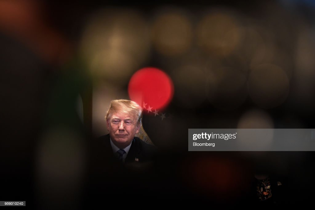 U.S. President Donald Trump speaks during a meeting with California leaders and public officials in the Cabinet Room of the White House in Washington, D.C., U.S., on Wednesday, May 16, 2018. Trumpcontinued to defend the lifeline he offered to Chinese telecom-equipment maker ZTE Corp., insisting trade talks with Beijing are just getting started. Photographer: Olivier Douliery/Pool via Bloomberg