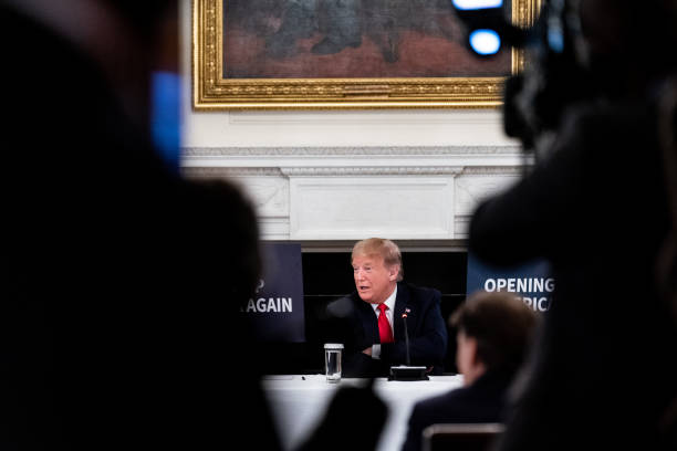 DC: President Trump Participates In White House Roundtable With Industry Executives On Reopening Of Economy