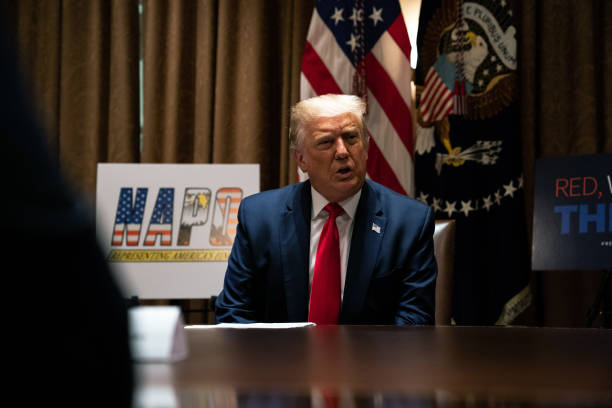 DC: President Trump Meets With National Association Of Police Organizations Leadership