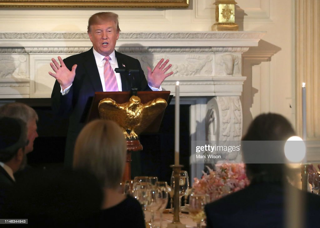 The President And First Lady Host National Day Of Prayer Dinner At The White House : News Photo