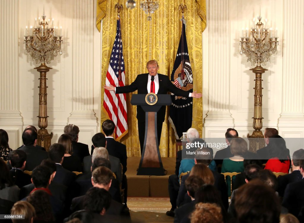 President Trump Holds News Conference In East Room Of White House : News Photo