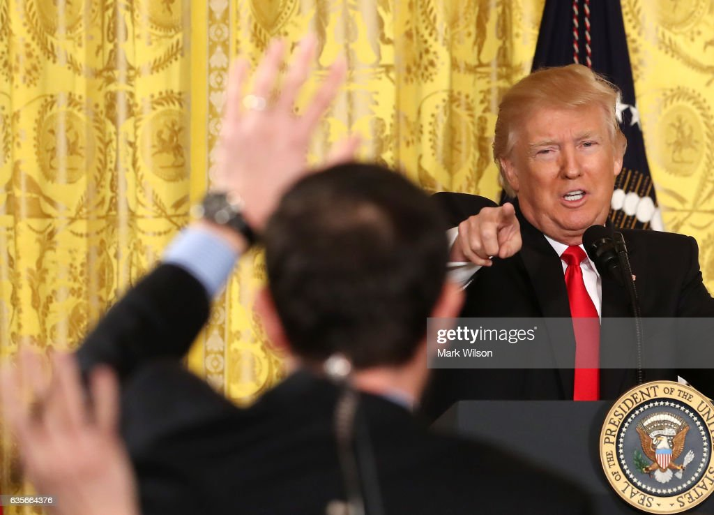 President Trump Holds News Conference In East Room Of White House : ニュース写真