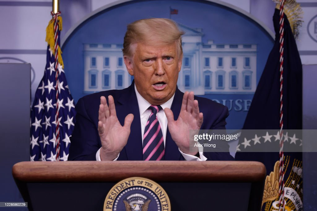 President Trump Holds News Conference At The White House : News Photo