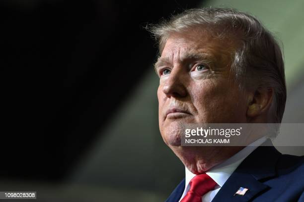 President Donald Trump speaks during a rally in El Paso, Texas on February 11, 2019.