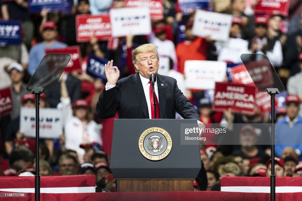 President Trump Holds MAGA Rally : News Photo