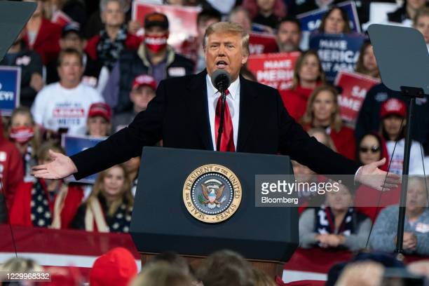 President Donald Trump speaks during a rally in Valdosta, Georgia, U.S., on Saturday, Dec. 5, 2020. Trump berated Georgias Republican governor before...