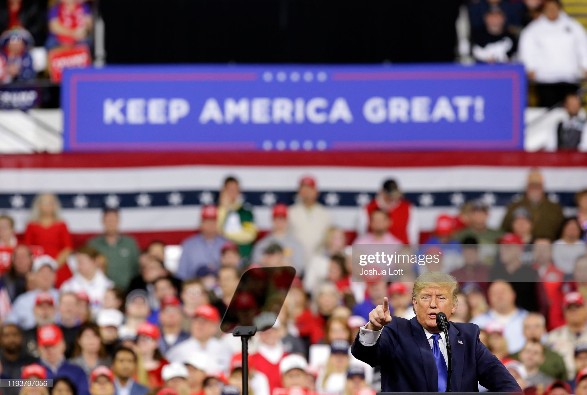 President Donald Trump Rallies His Supporters At Campaign Stop In Wisconsin : News Photo