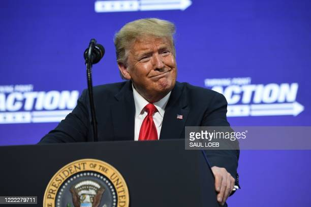 President Donald Trump speaks during a Students for Trump event at the Dream City Church in Phoenix, Arizona, June 23, 2020.