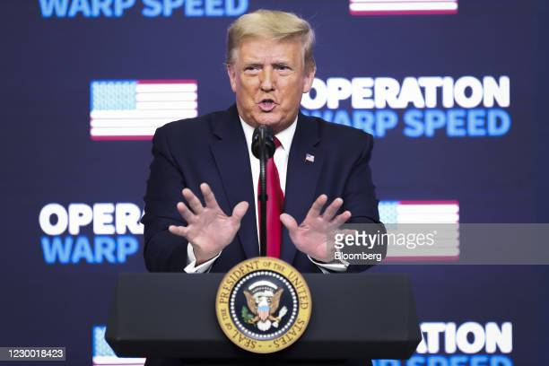 President Donald Trump speaks during an Operation Warp Speed vaccine summit at the White House in Washington, D.C., U.S., on Tuesday, Dec. 8, 2020....