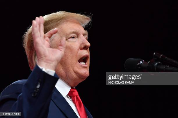 US President Donald Trump speaks during the annual Conservative Political Action Conference in National Harbor Maryland on March 2 2019
