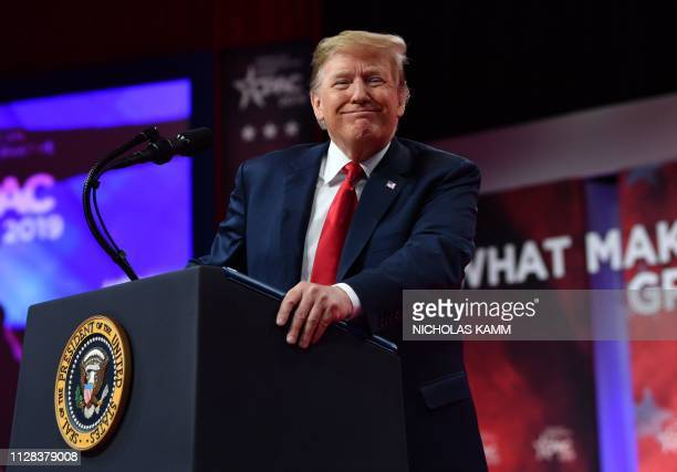 President Donald Trump speaks during the annual Conservative Political Action Conference in National Harbor Maryland on March 2 2019