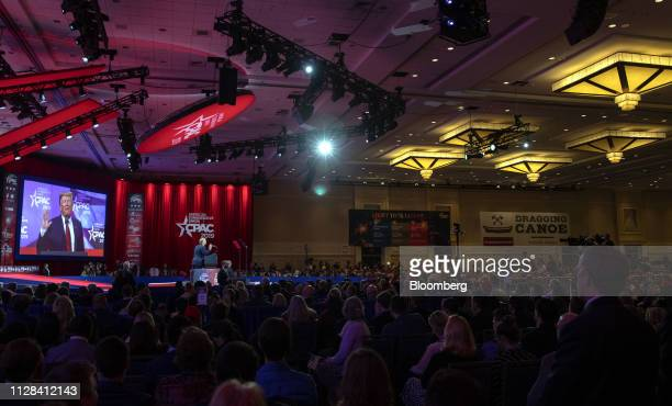 US President Donald Trump speaks during the Conservative Political Action Conference in National Harbor Maryland US on Saturday March 2 2019...