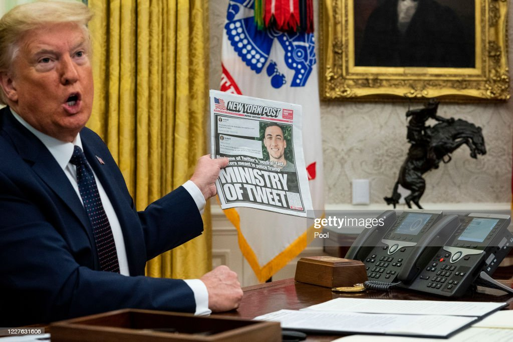 President Trump Issues Executive Order Against Social Media Companies : News Photo