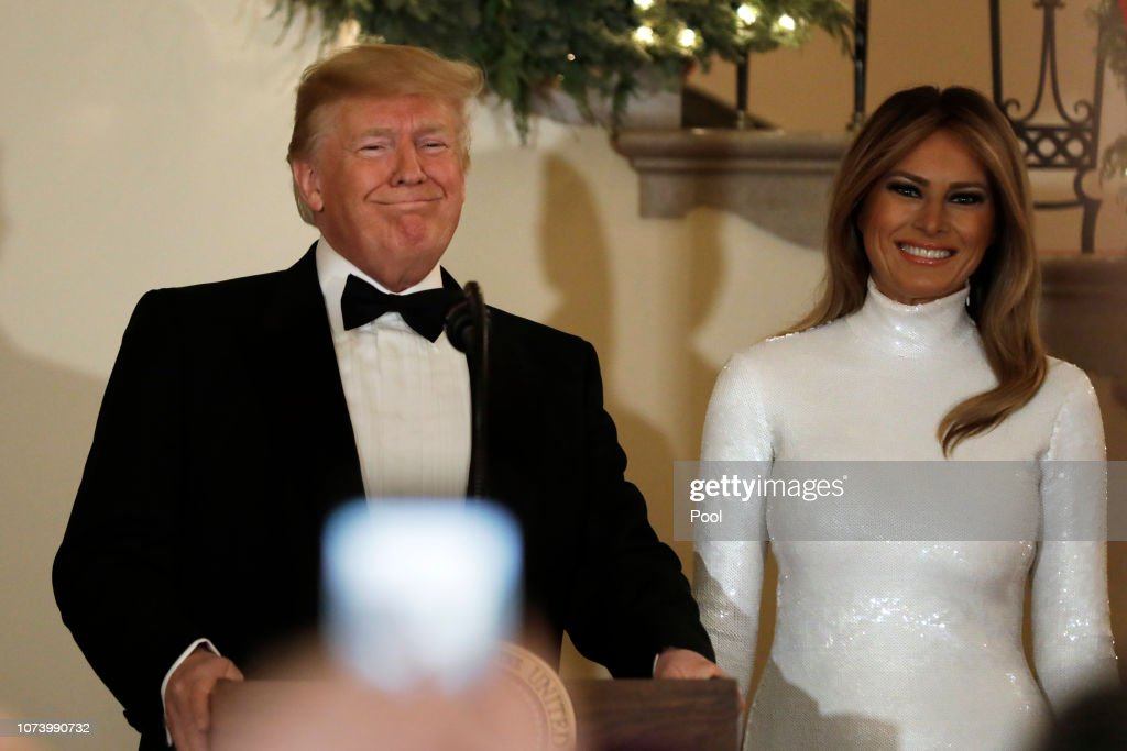 President Donald Trump and First Lady Melania Trump host the Congressional Ball : Photo d'actualité