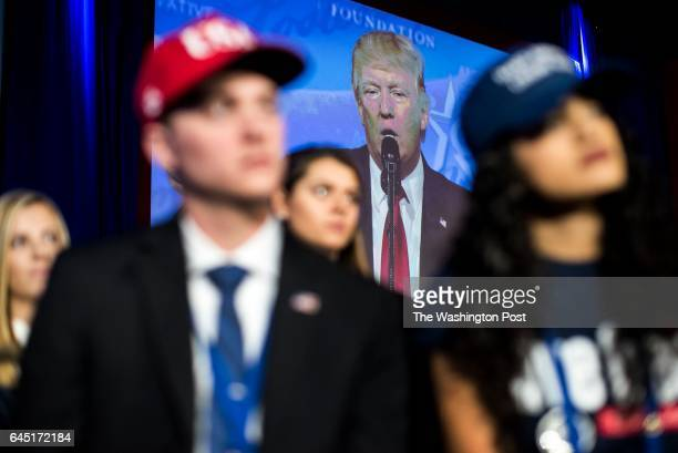 HILL MD President Donald Trump speaks to a packed ballroom during the CPAC conference at the Gaylord Hotel and Convention Center in Oxon Hill...