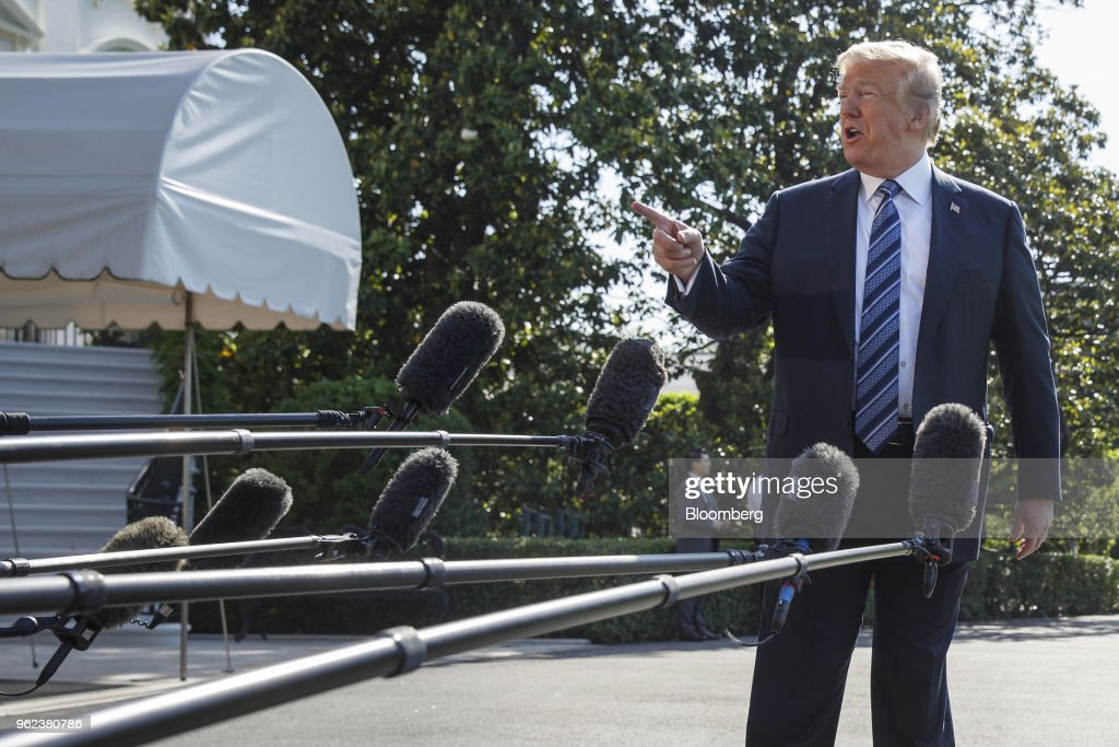 President Trump Departs The White House For Travel To Annapolis, Maryland