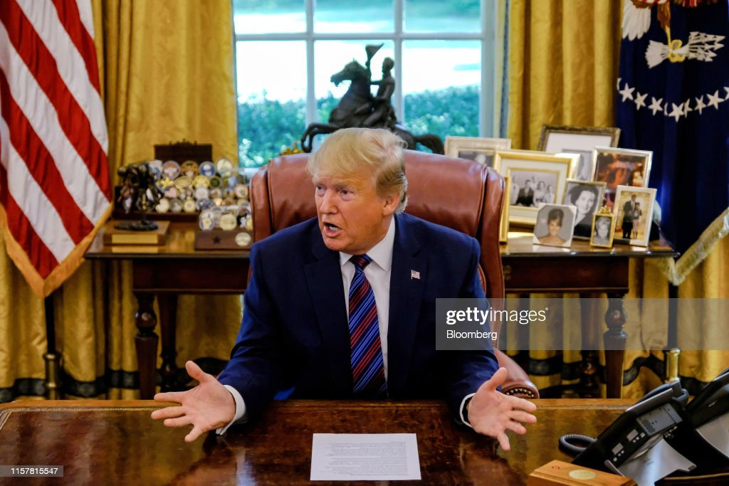President Trump Signs Deal With Guatemala to Limit Asylum Claims in U.S. : ニュース写真
