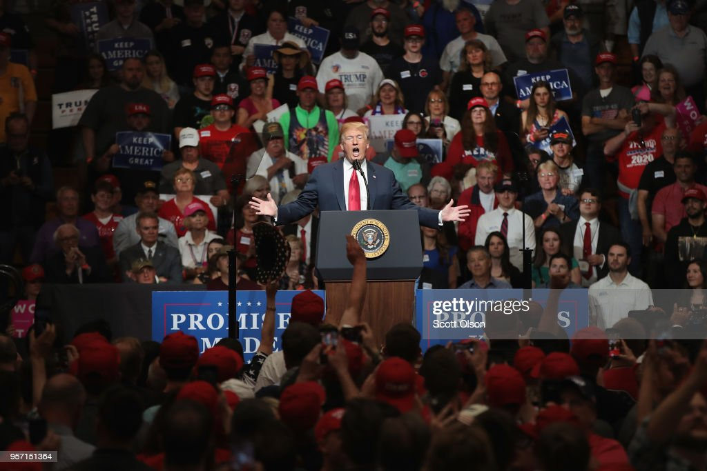 President Trump Holds Campaign Rally In Elkhart, Indiana : News Photo