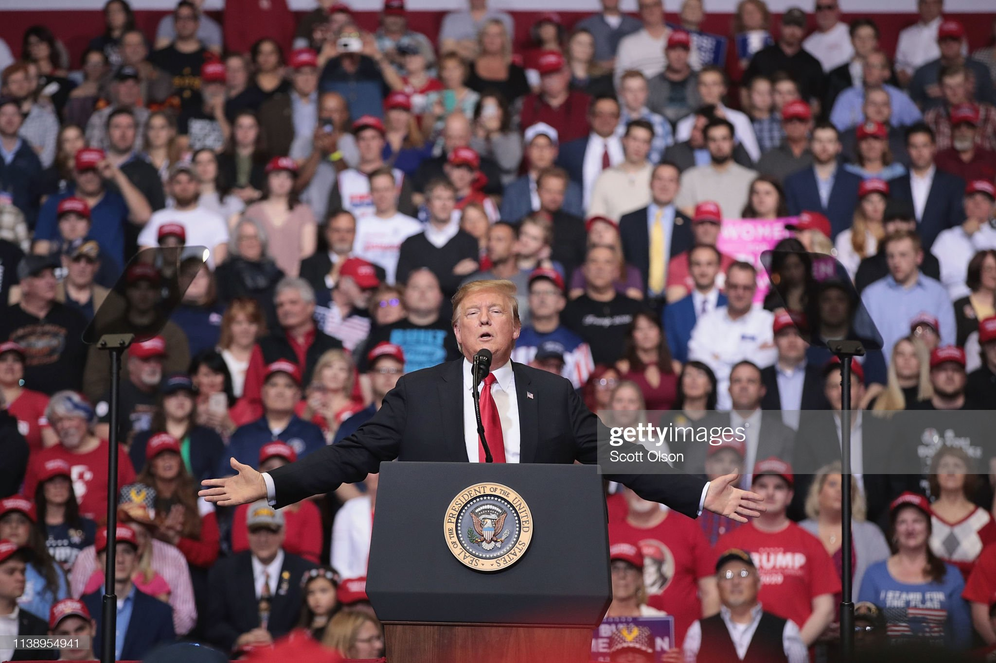 Donald Trump Holds MAGA Rally In Grand Rapids, Michigan : News Photo
