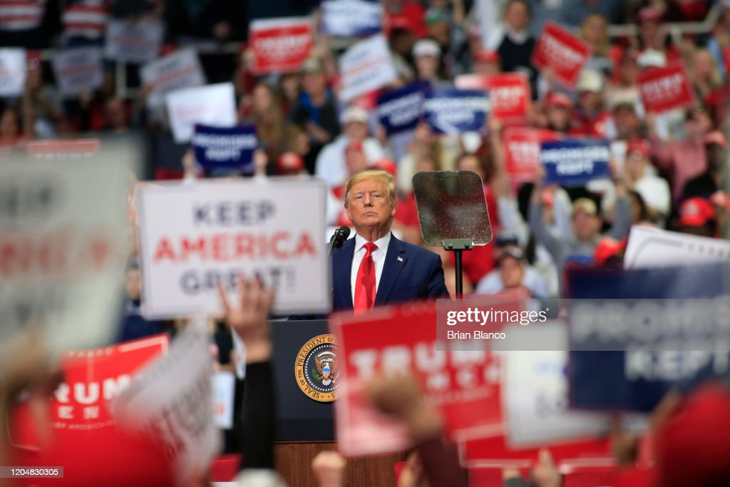 Donald Trump Holds Pre-Super Tuesday Campaign Rally In Charlotte, NC : News Photo