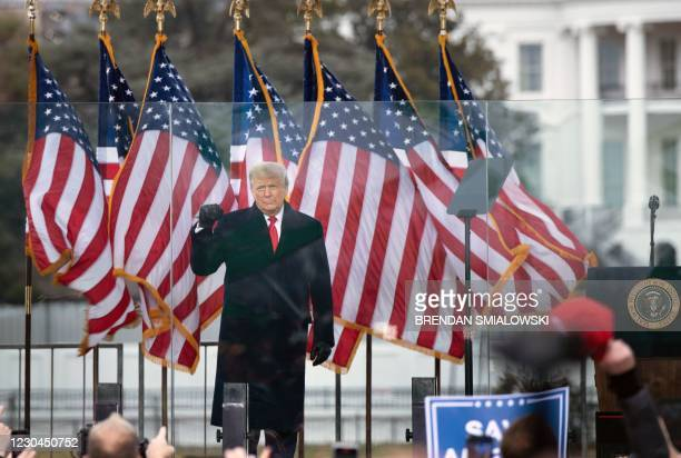 President Donald Trump speaks to supporters from The Ellipse near the White House on January 6 in Washington, DC. - Thousands of Trump supporters,...