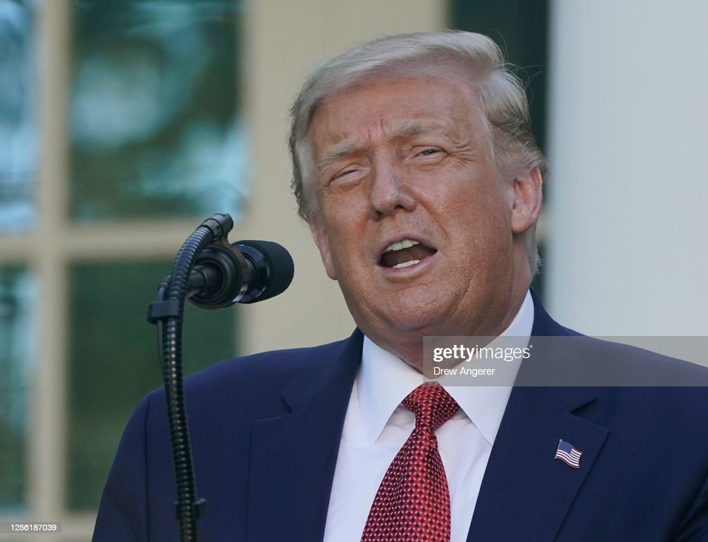 President Trump Holds A Press Conference At The White House : News Photo