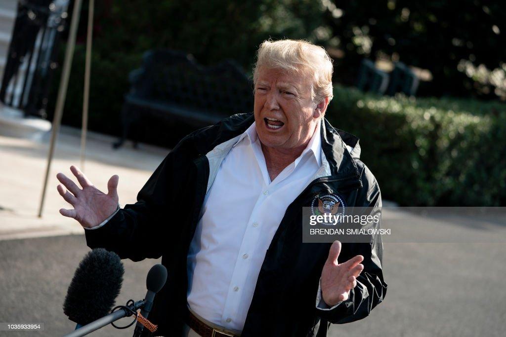 US-POLITICS-TRUMP-DEAPRTS : News Photo