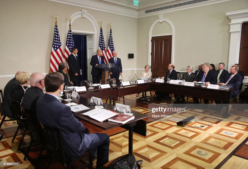 Presidential Advisory Commission On Election Integrity Holds First Meeting At The White House : News Photo