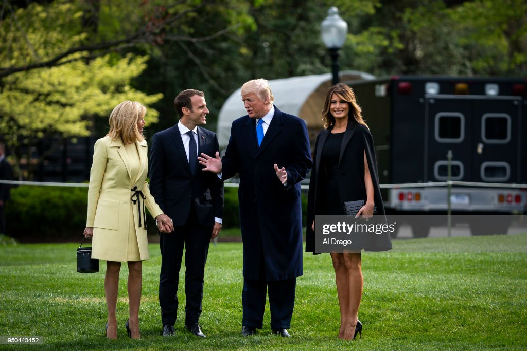 President And Mrs Trump Travel With President And Mrs. Macron To Mt. Vernon