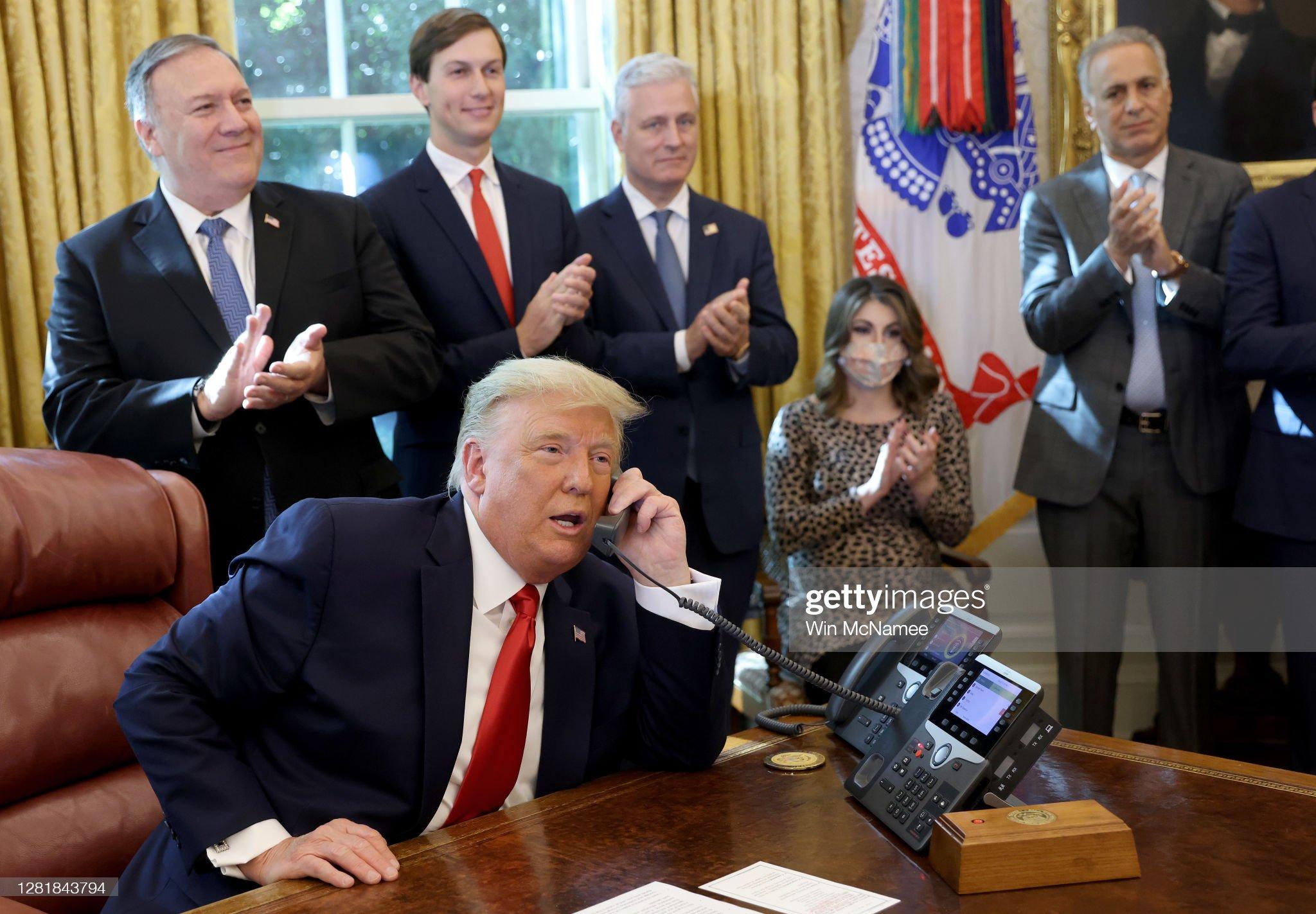 President Trump on phone