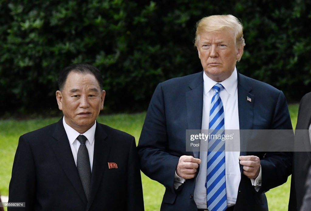 North Korean Central Committee Vice Chairman Kim Yong Chol Delivers Letter From Country's Leader To President Trump : News Photo