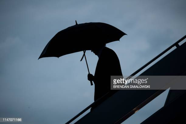 President Donald Trump steps off Air Force One at Andrews Air Force Base on May 30 in Maryland US President Donald Trump returns from Colorado...