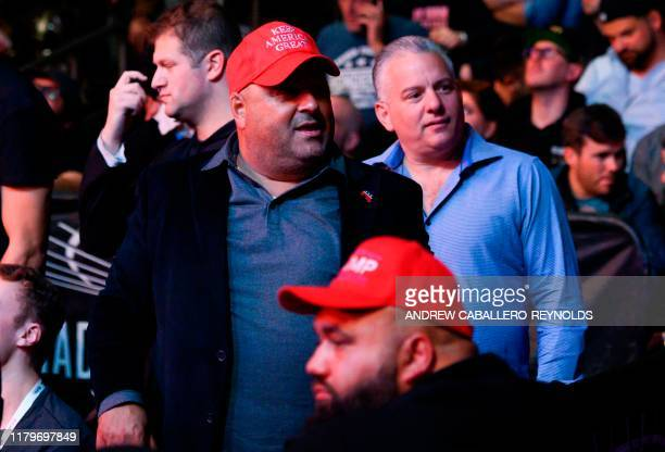 US President Donald Trump' supporters attend the Ultimate Fighting Championship at Madison Square Garden in New York City New York on November 2 2019