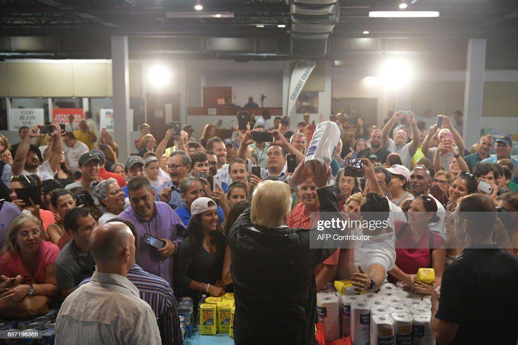 WEATHER-US-HURRICANE-PUERTORICO-POLITICS-TRUMP : News Photo