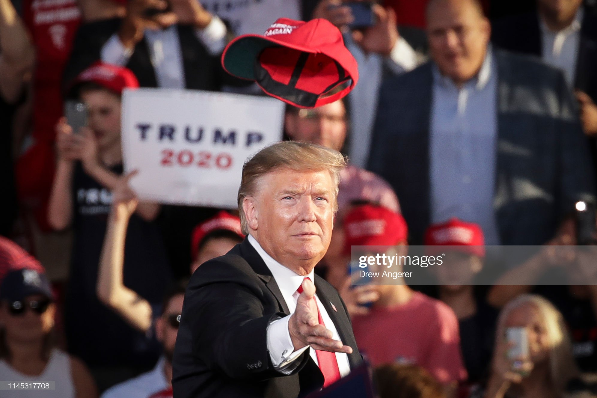 "Donald Trump Holds ""MAGA"" Rally In Central Pennsylvania : News Photo"