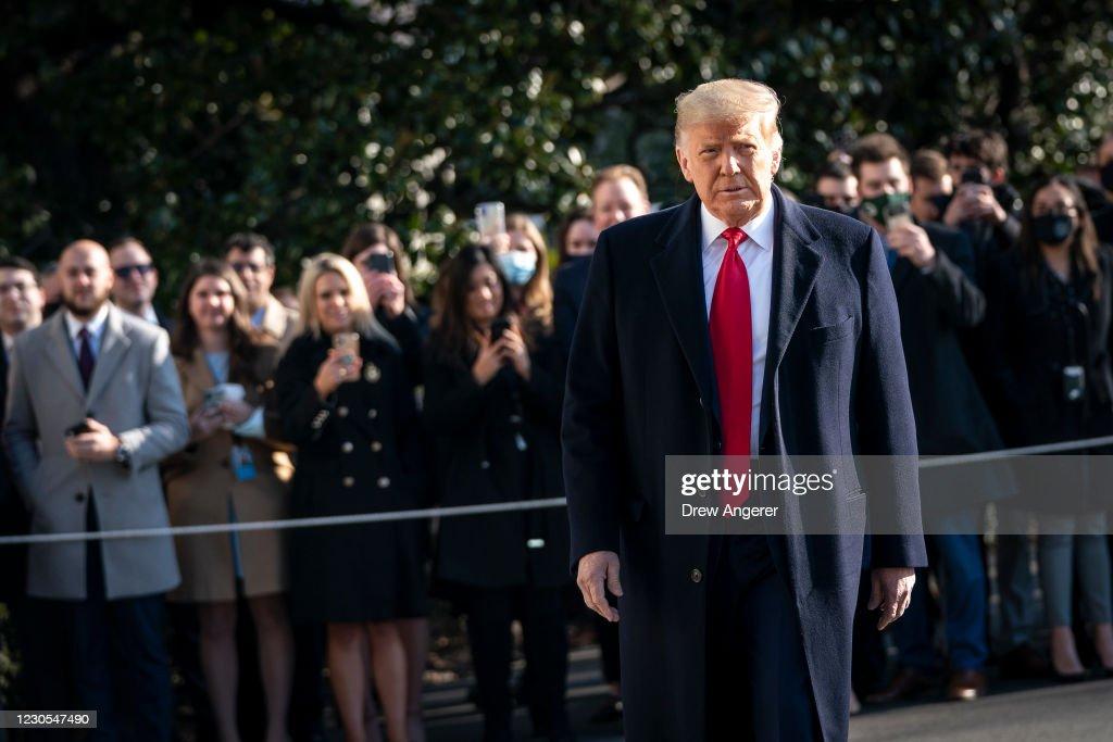 President Trump Departs White House For Border Visit : News Photo