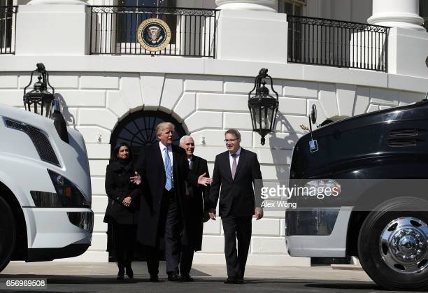 S President Donald Trump Vice President Mike Pence and Administrator of the Centers for Medicare and Medicaid Services Seema Verma welcome American...