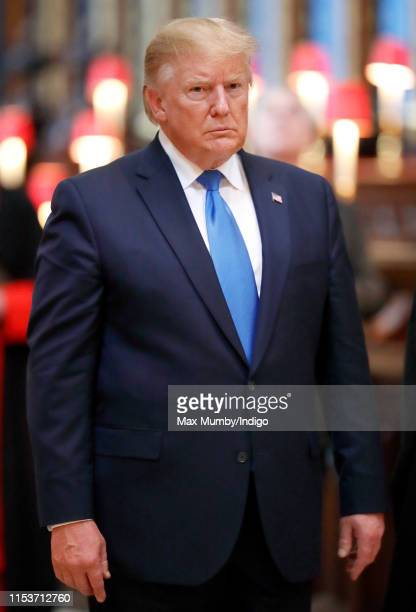 US President Donald Trump visits Westminster Abbey where he laid a wreath at the grave of the Unknown Warrior on day 1 of his State Visit to the UK...