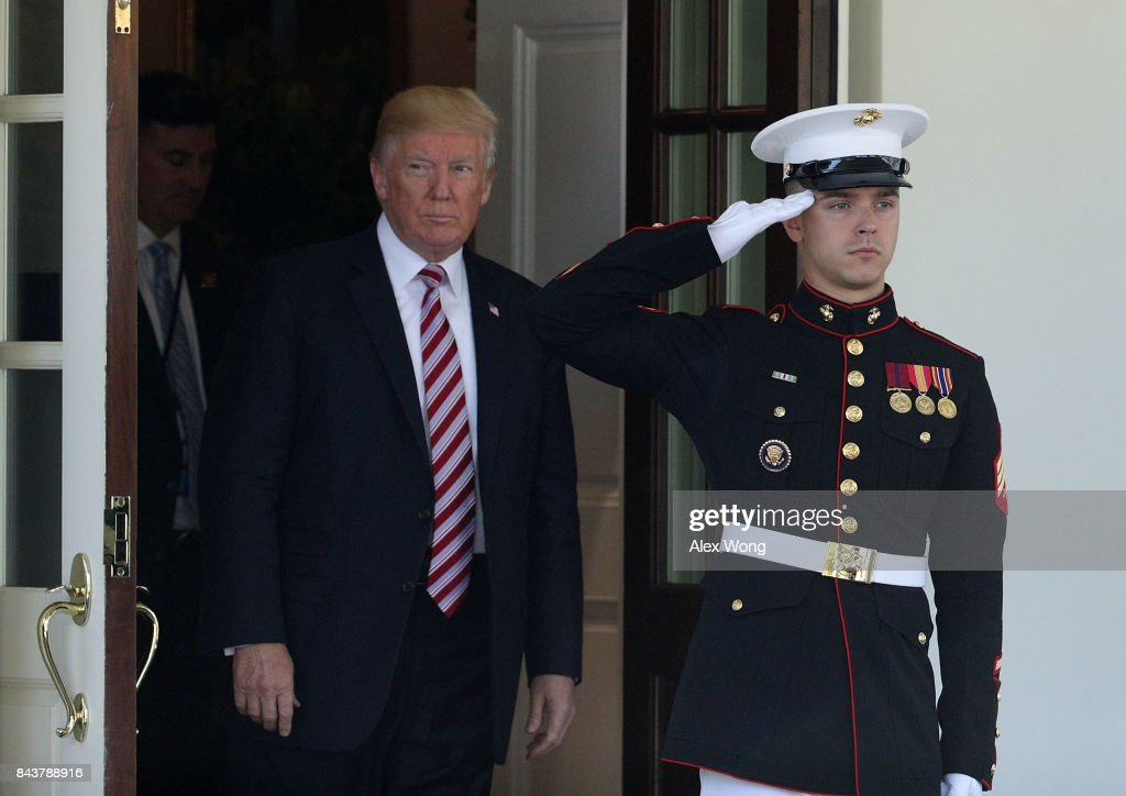 President Trump Holds Joint News Conference With The Amir Of Kuwait : News Photo