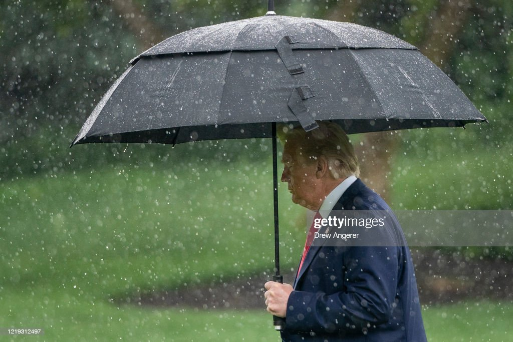 President Trump Departs White House For Dallas : News Photo