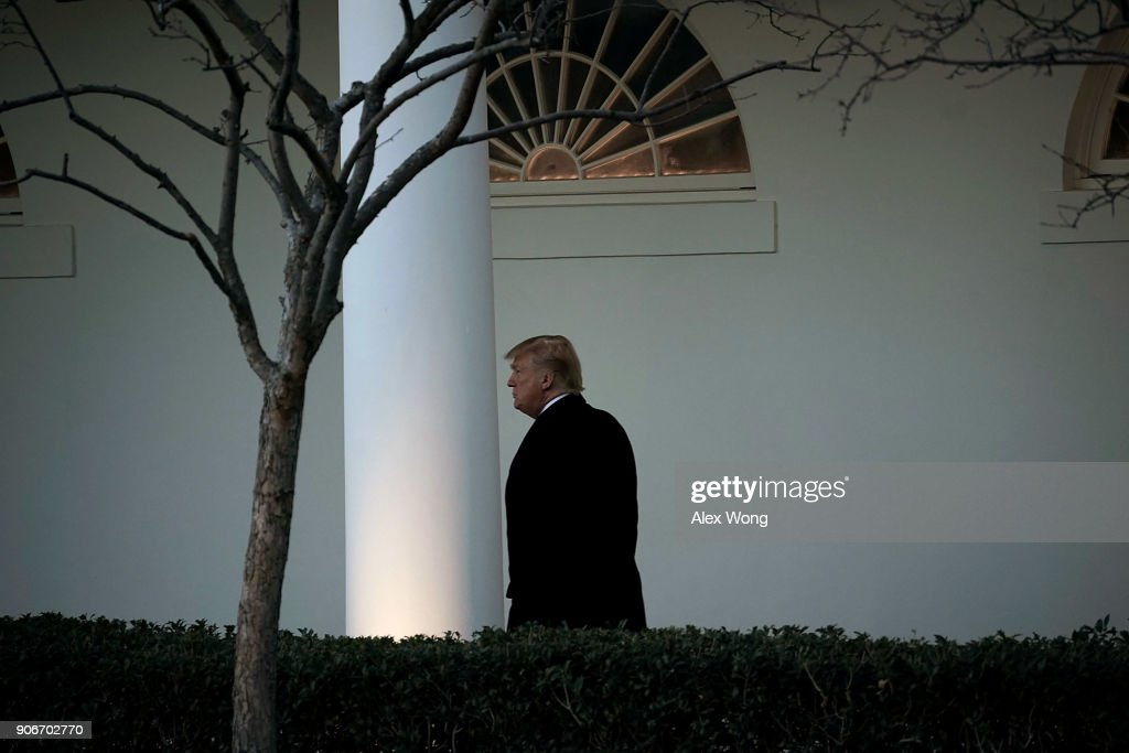 President Trump Returns To The White House