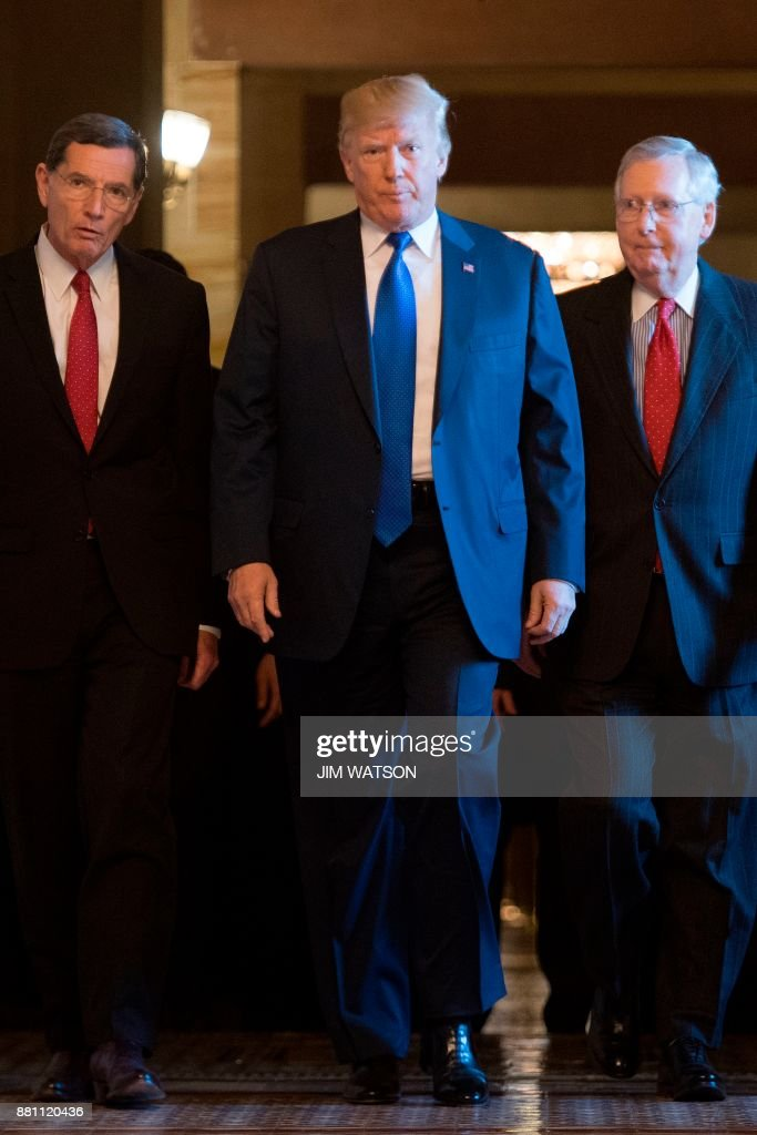 President Trump Attends GOP Senate Policy Committee Luncheon On Capitol Hill