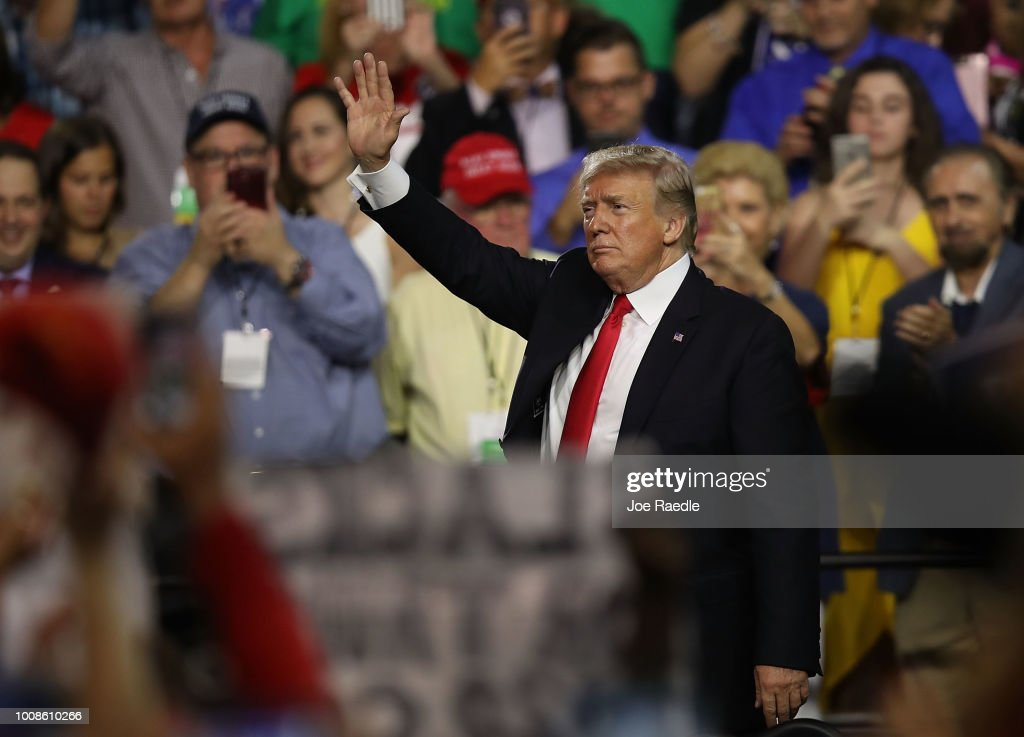 Donald Trump Holds Make America Great Again Rally In Tampa : News Photo