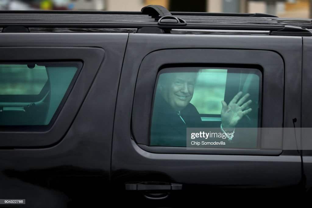 President Trump Departs Walter Reed Medical Center After Physical Exam