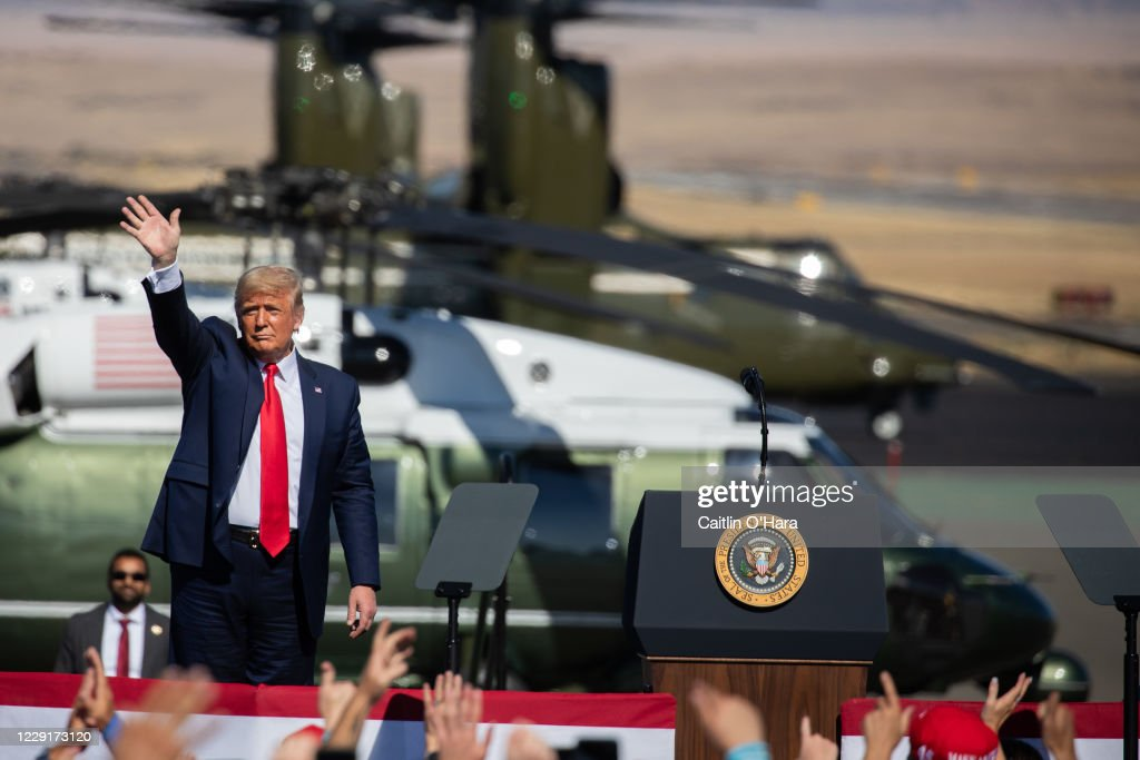 Donald Trump Holds Campaign Rallies In Arizona : News Photo