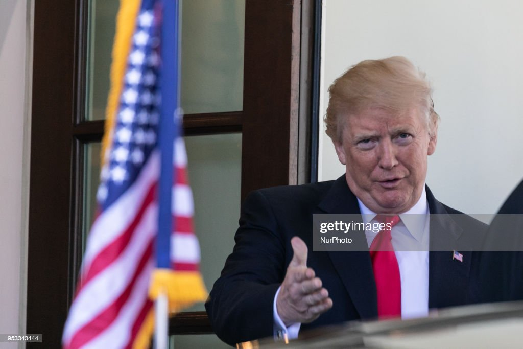 President Trump Welcomes President Buhari To The White House : News Photo