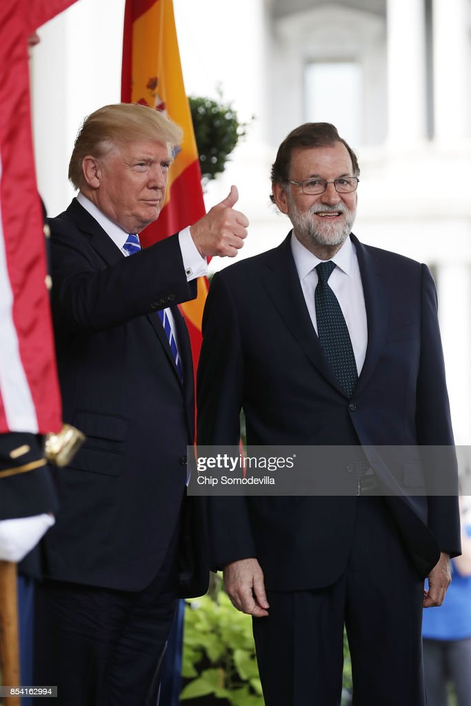 President Trump Hosts Spain's Prime Minister At The White House