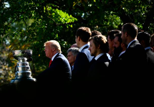 DC: President Trump Welcomes Stanley Cup Champion St Louis Blues To The White House